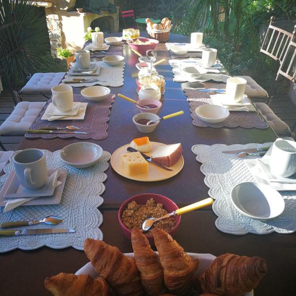 Petit Déjeuner en extérieur